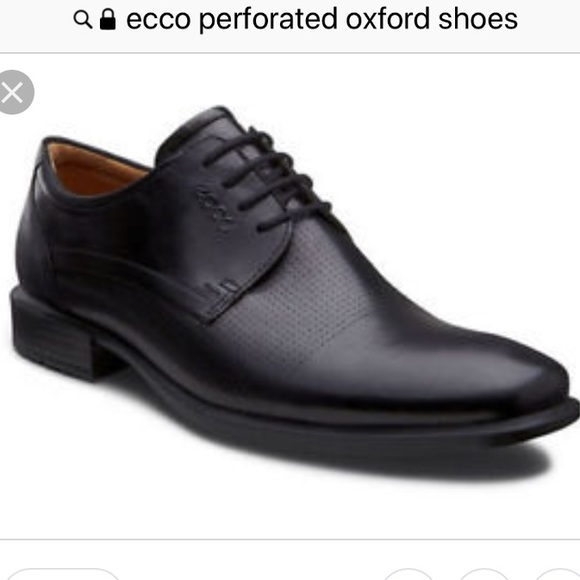 0187815a ECCO Cairo perforated Plain toe oxfords. 12 x-Wide
